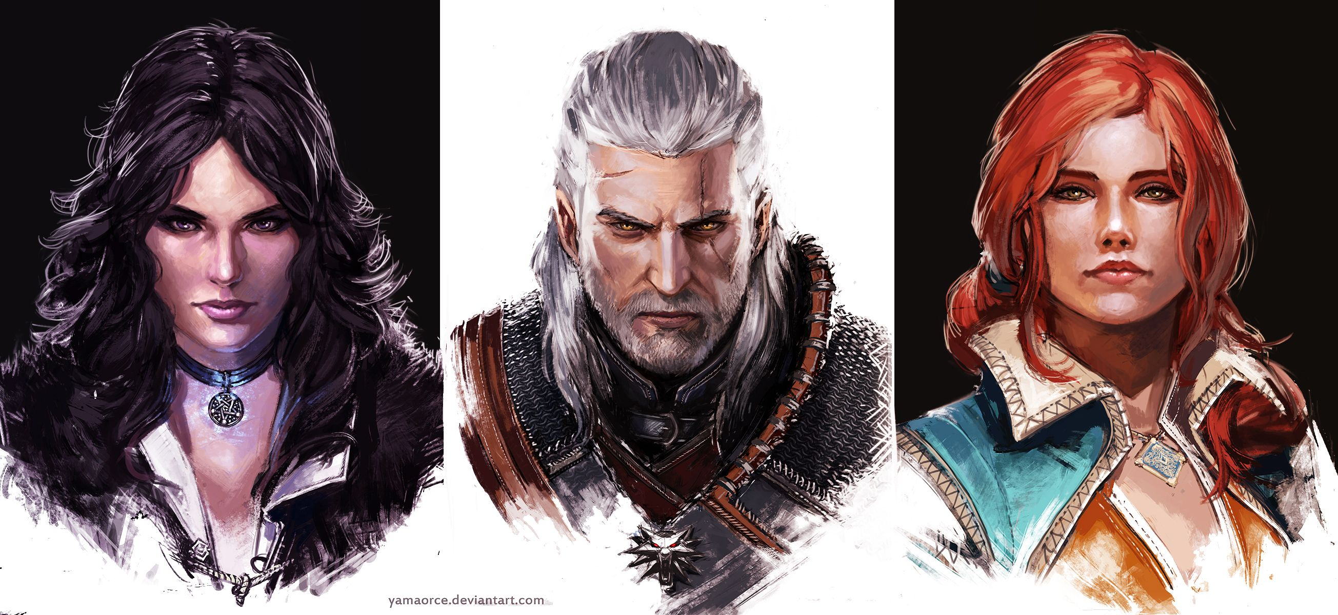 The Witcher portraits by YamaOrce.deviantart.com on @DeviantArt