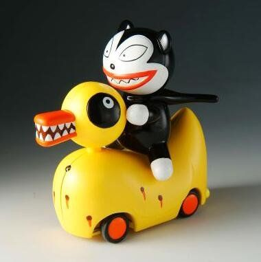 Undead duck and teddy from Nightmare Before Christmas, remote ...