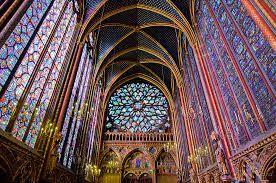 Interior De La Planta Superior Sainte Chapelle Paris