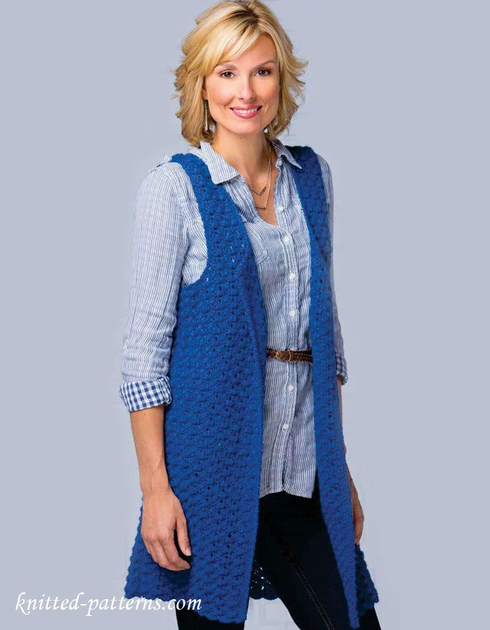 Womens sleeveless jacket crochet pattern free crochet vests Pinteres...