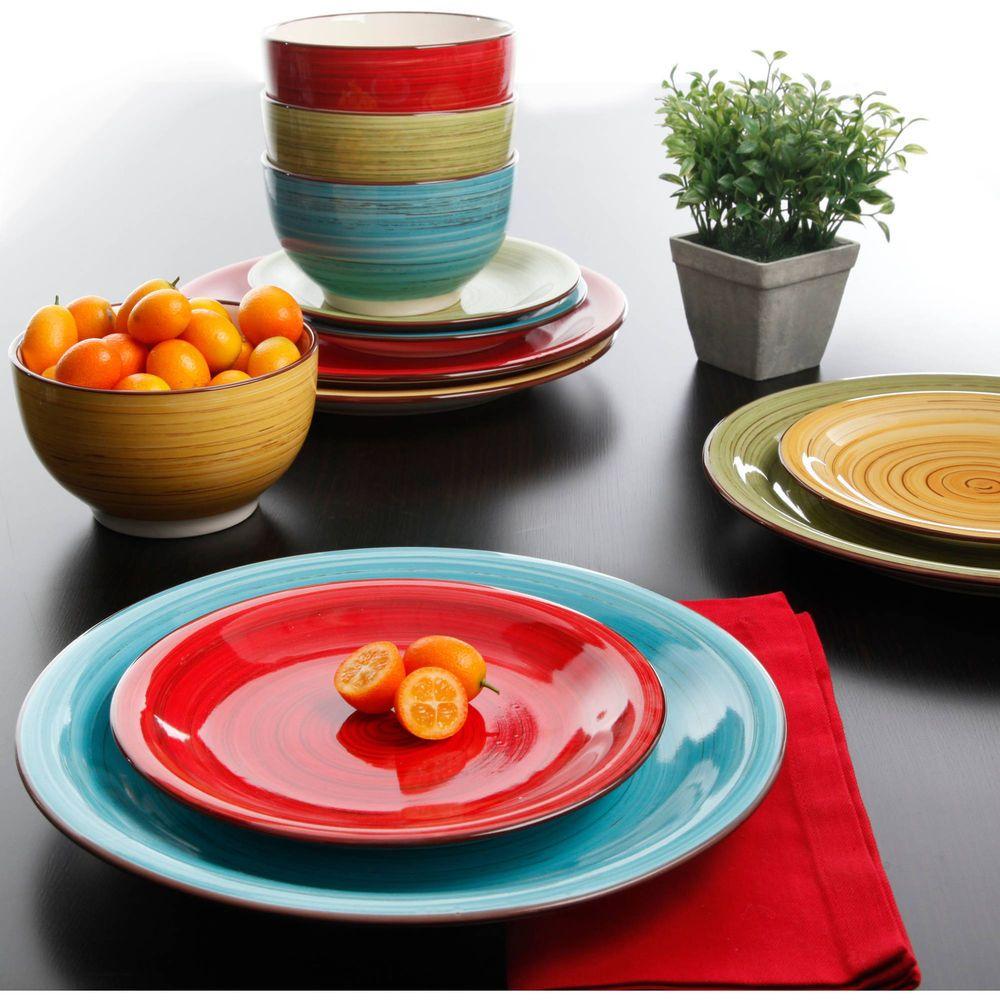 Dorm Dinnerware Set 12 PC Plates Bowls Ceramic Dinner Dessert Kitchen College & Dorm Dinnerware Set 12 PC Plates Bowls Ceramic Dinner Dessert ...