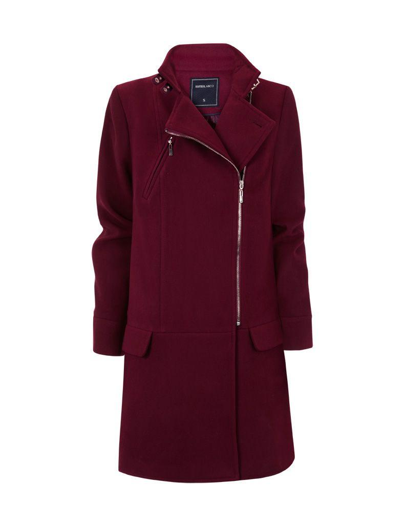 burgundy coat-blanco