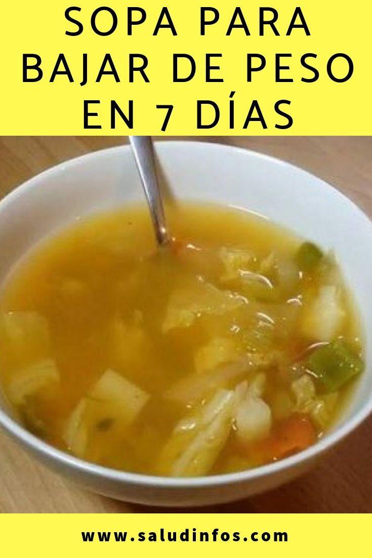 Sopa para adelgazar 7 dias