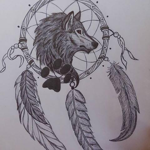 Resultado De Imagen Para Lobos Dibujos A Lapiz Atrapasueños