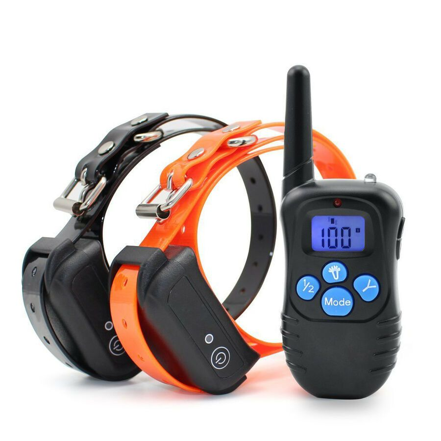 900 Feet Electric Dog Training Shock Collar With Remote Waterproof