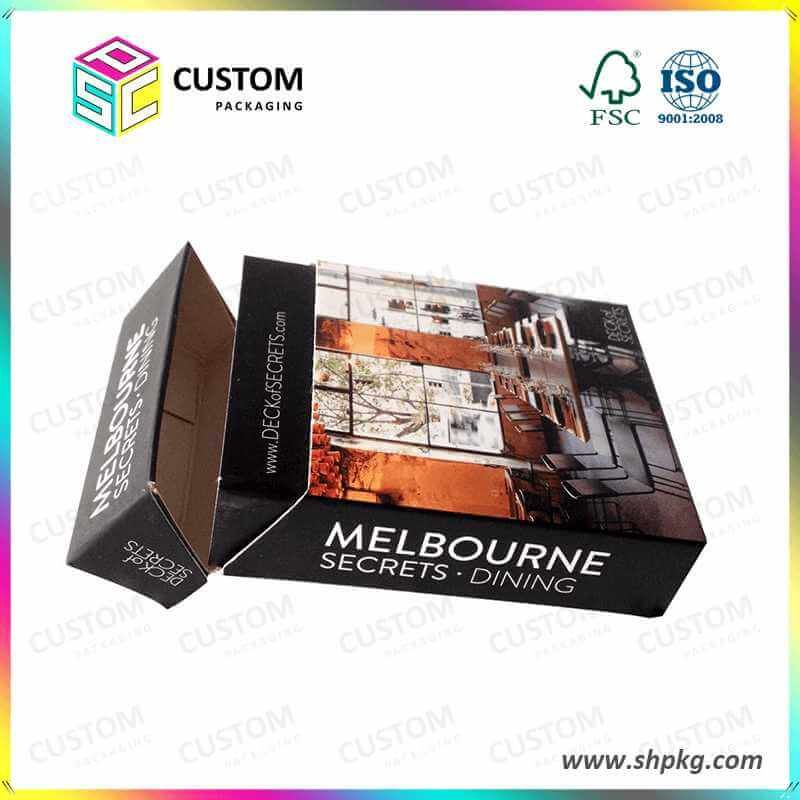 Rigid Cardboard Gift Boxes Single Custom Packaging Product Color
