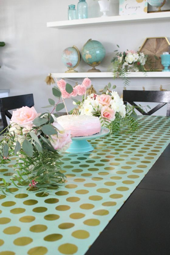 Delightful Wrapping Paper Table Runner