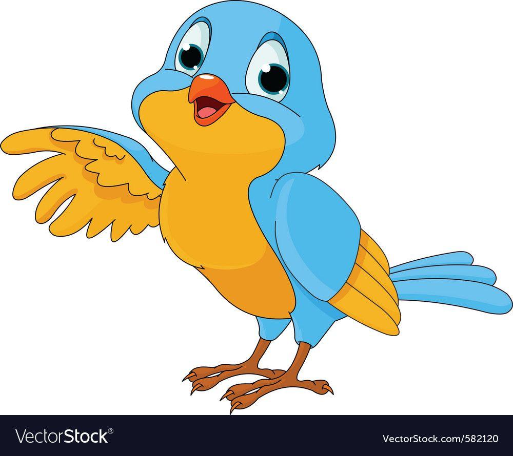 Cartoon Of A Cute Talking Bird Royalty Free Vector Image Aff Talking Bird Cartoon Cute Ad Cat Vector Mermaid Vector Dog Vector