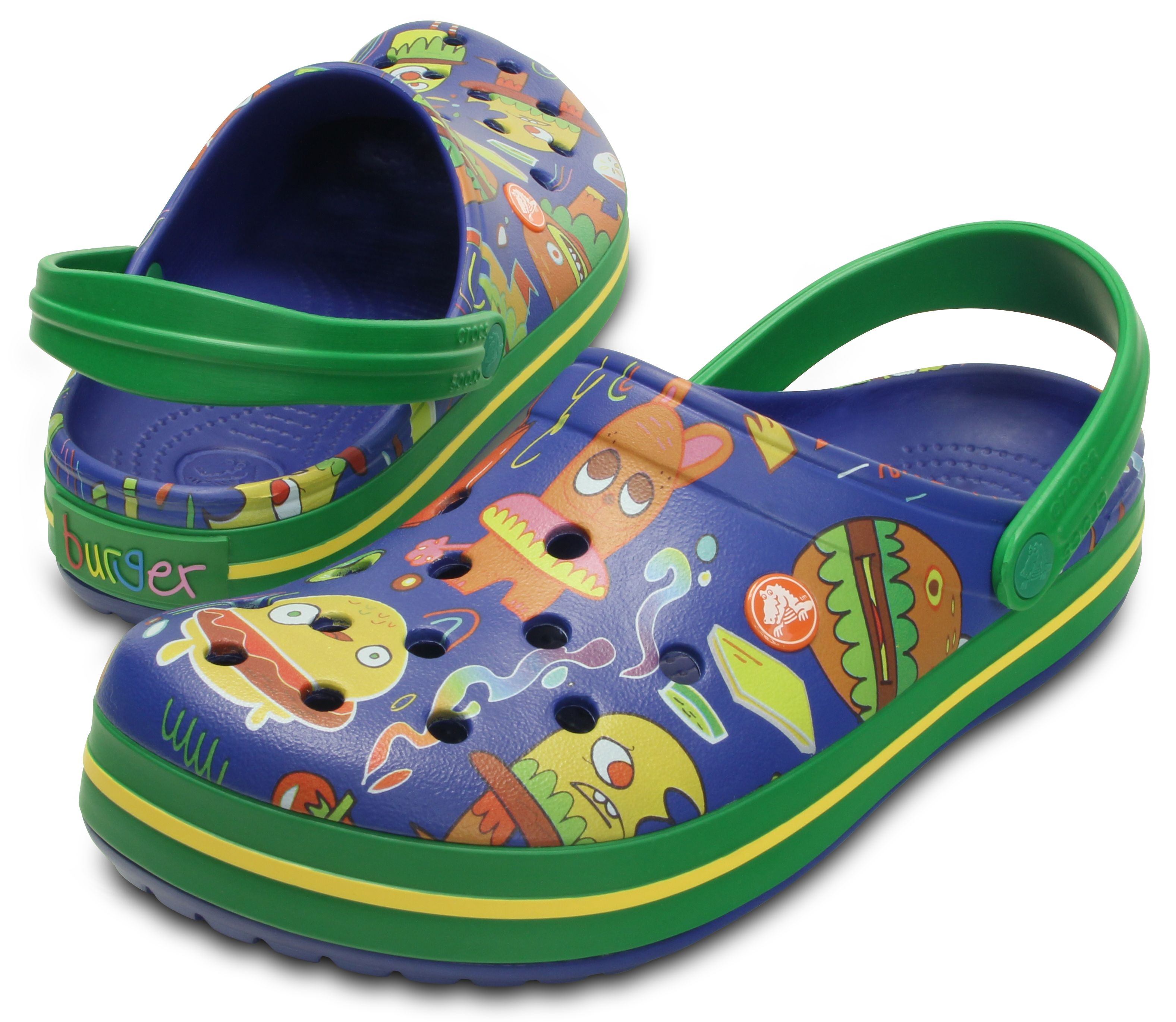 3287138fe0 Fun with food Crocs shoes by artist Jon Burgerman. Now available ...