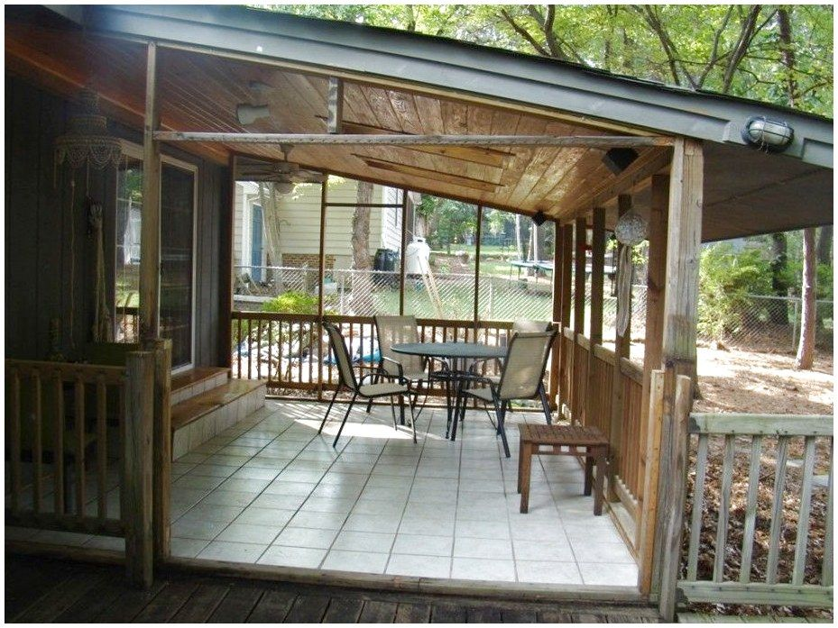 Outdoors Simple Diy Back Porch Design Idea With Small Ceramic