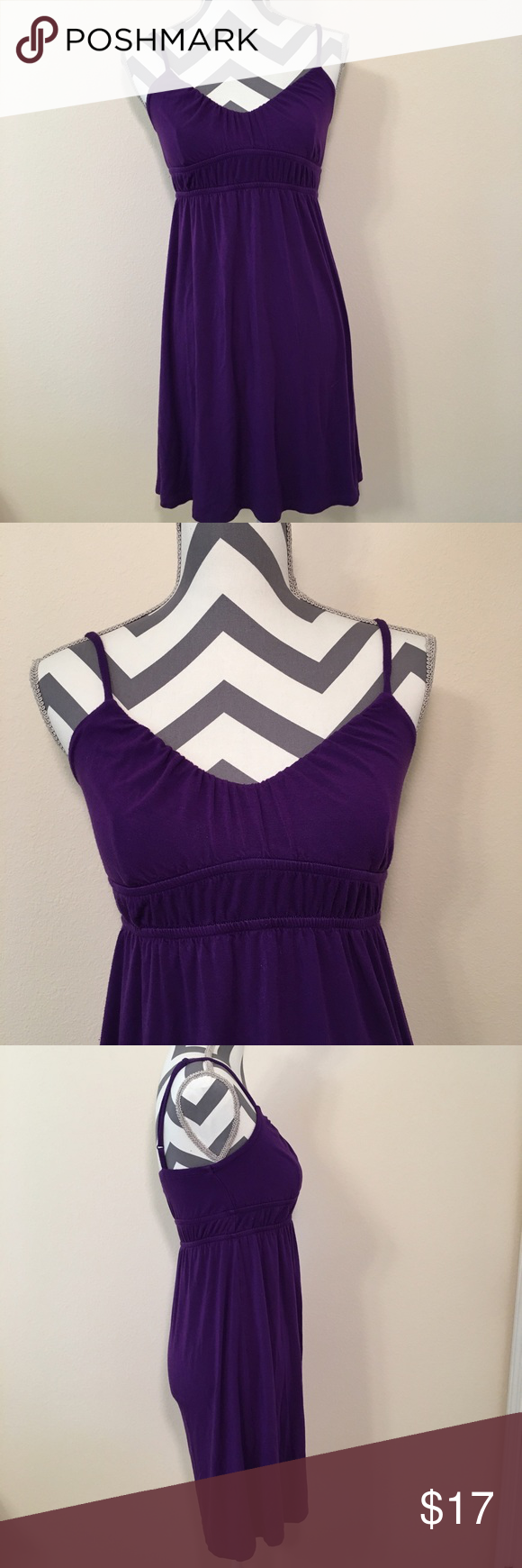 Purple Spaghetti Strap Dress Purple Spaghetti Strap Dress Size ...