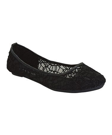 Another great find on #zulily! Black Lace Melisa Flat #zulilyfinds