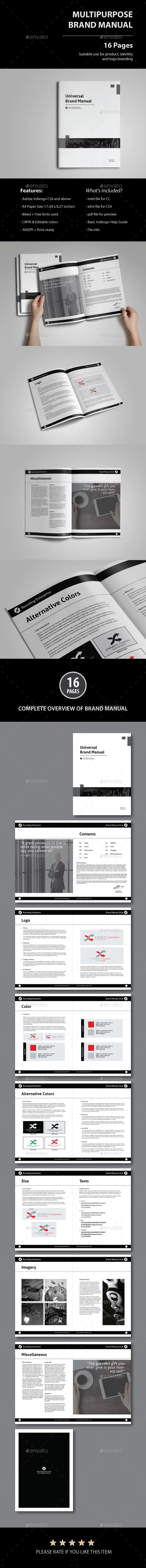 Brand Manual Template  Brand Manual Template And Brochure Template