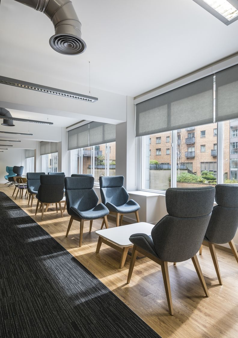 Office Design For Manchester Growth Company Company Design Growth Manchester Moderncorporateofficedesignexposedceilings Off Office Seating Furniture Living Room Carpet