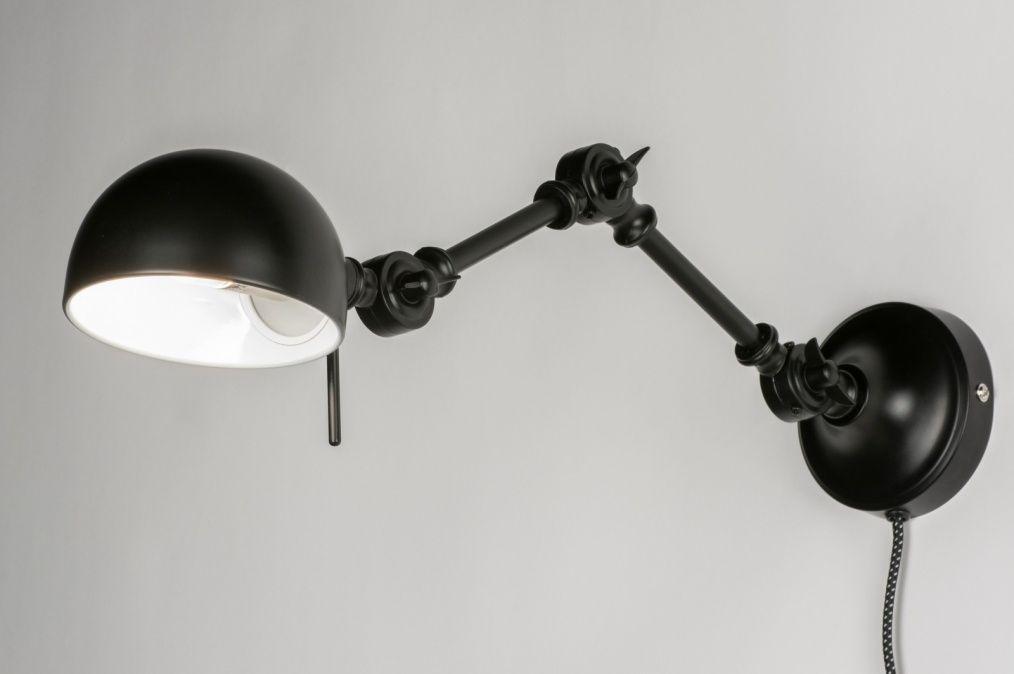 Applique murale 72273: moderne, retro, look industriel, noir ...