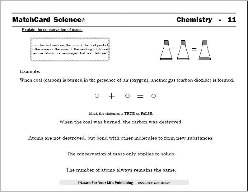 The FREE chemistry worksheets from MatchCard Science provide easy ...
