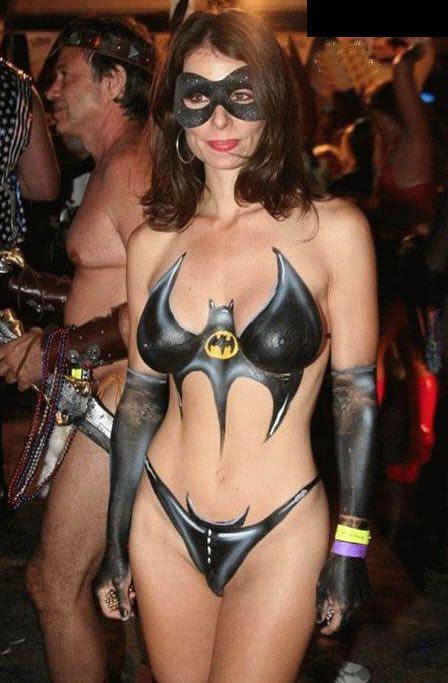 cosplay girl sexy nude Batgirl