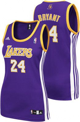 c181b9126 Kobe Bryant Purple adidas Revolution 30 Replica Los Angeles Lakers Women's  Jersey