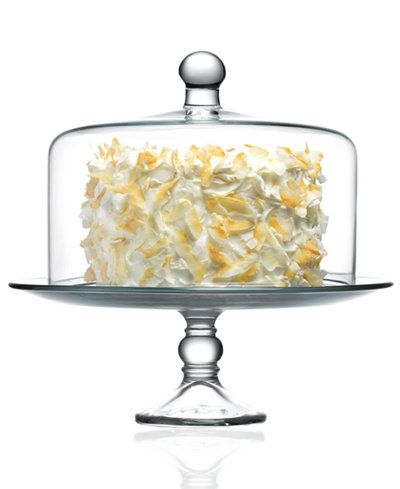 The Cellar Cake Stand Selene with Dome - Serveware - Dining u0026 Entertaining - Macyu0027s  sc 1 st  Pinterest & An indispensable accessory for entertaining this glass cake stand ...