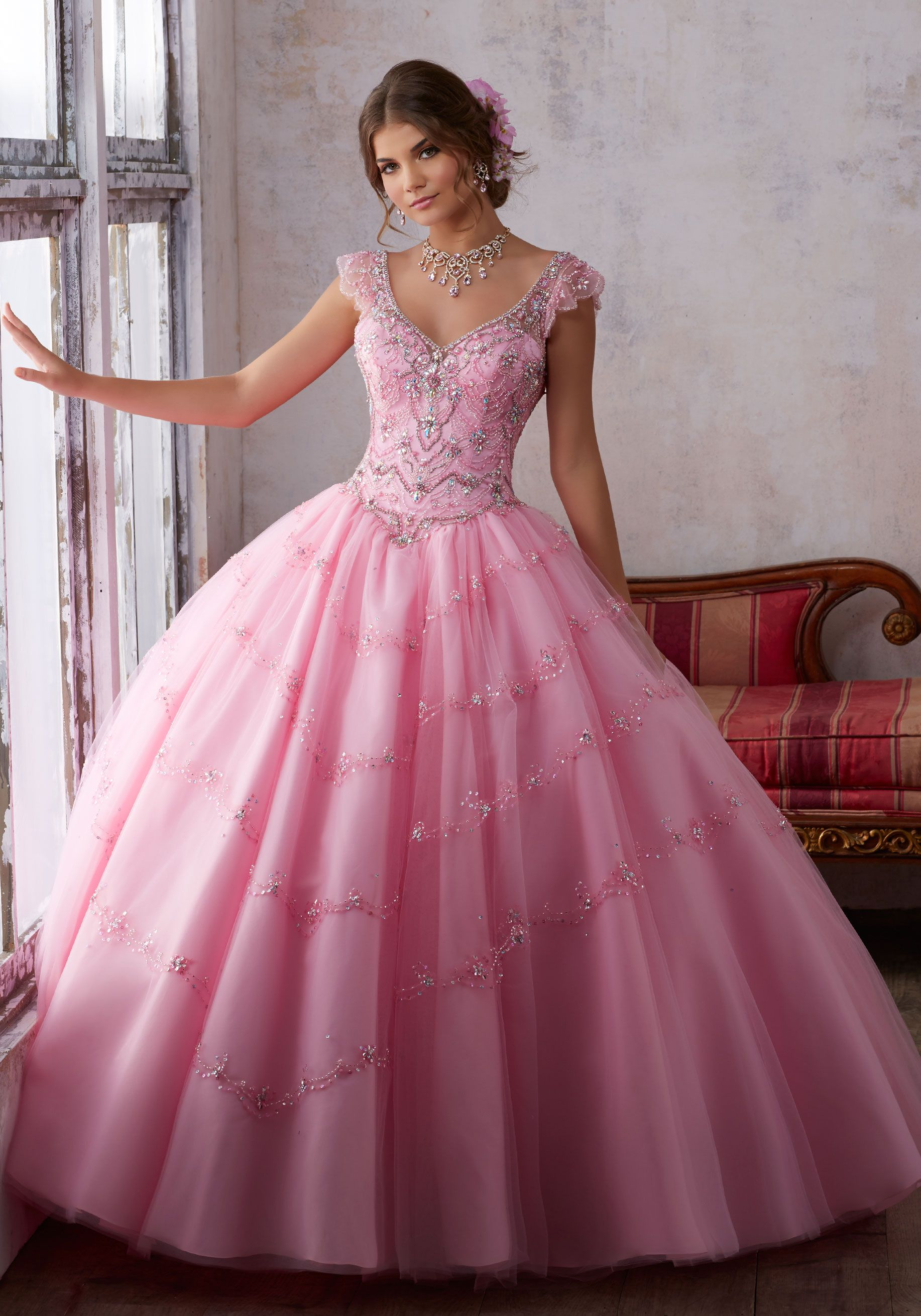 Morilee Quinceanera Dresses STYLE NUMBER: 89136 Jeweled Beading on a ...