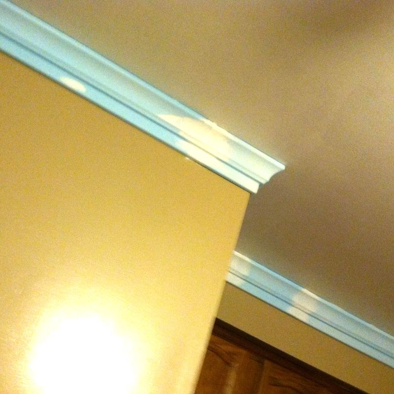 Foam Crown Moulding It S So Easy Completed Job Pictures Foam Crown Molding Diy Crown Molding Home Improvement