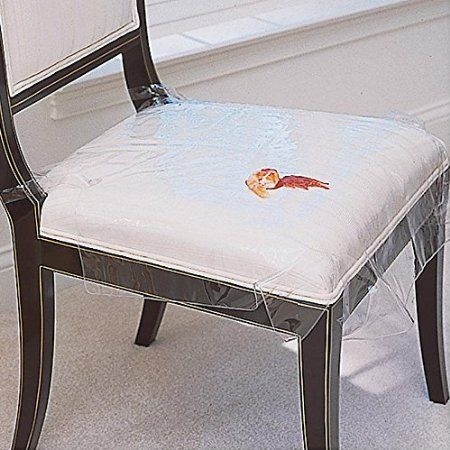 Use Plastic Seat Covers To Protect Your Dining Room Chairs From Spills And Drips Ideal With Kids Or Adults These Protectors Tie