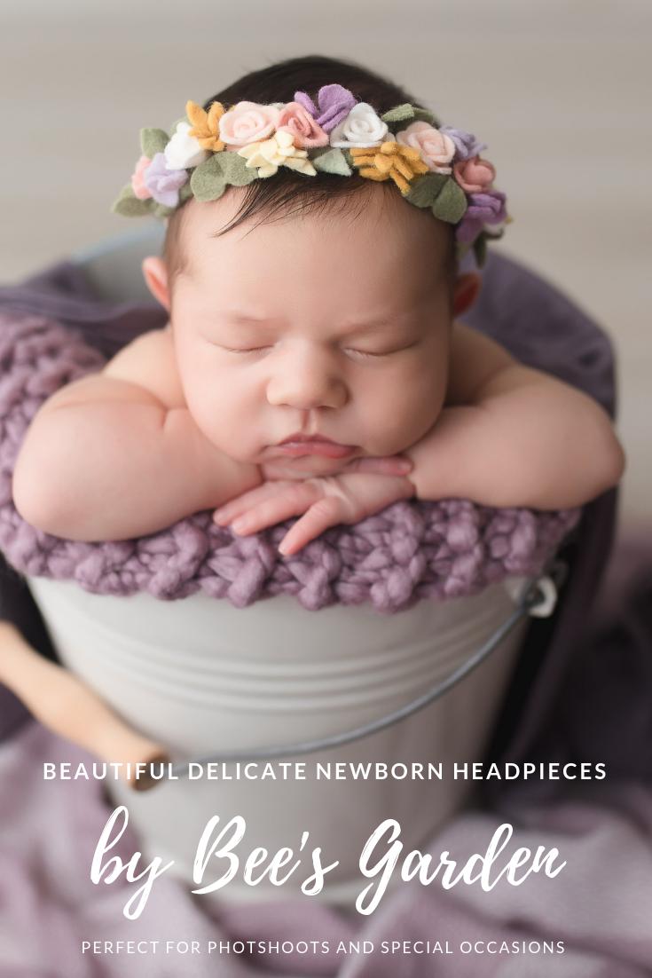 Delicate Roses newborn Headband - Floral Crown - Mini Crown ... 8e8d7817553