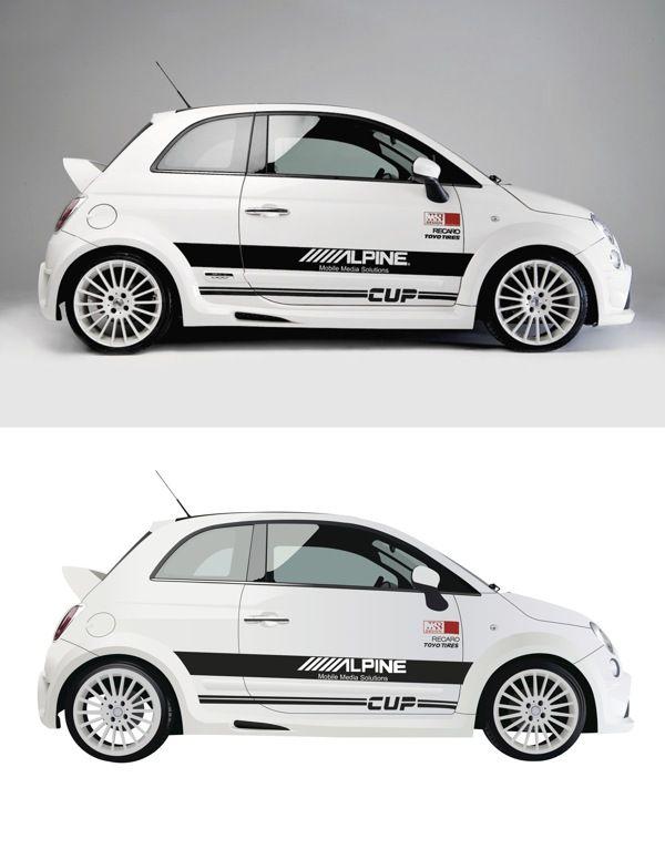 Vector Fiat 500, via Behance