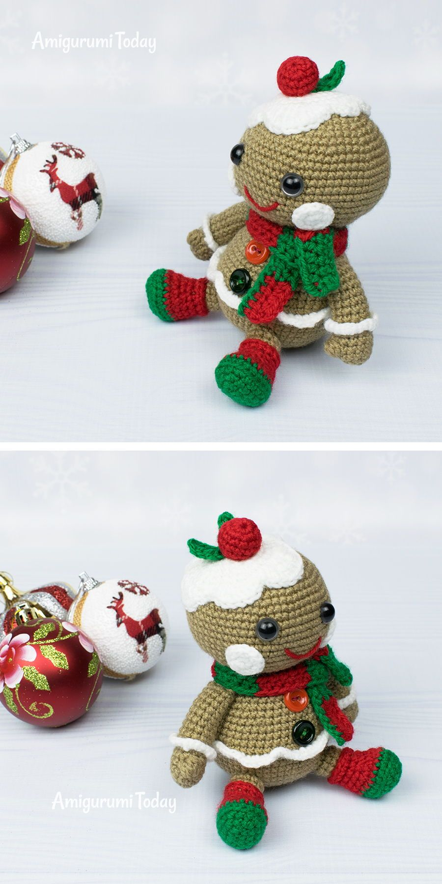 Christmas gingerbread man crochet pattern