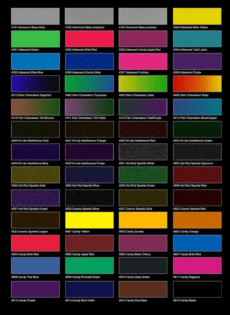 Metallic Car Paint Color Chart : metallic, paint, color, chart, About, Likes