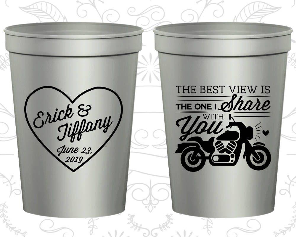 Stadium Cups Wedding Plastic Personalized