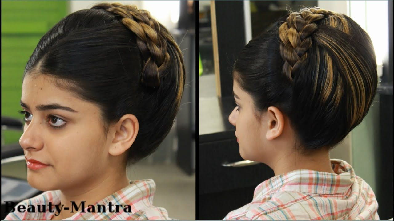 Indian Bridal Bun Hairstyles Video Fade Haircut Awesome Indian Bridal Bun Hairstyles Video Fade Hai Bridal Hair Buns Indian Bridal Hairstyles Hairstyle Jura