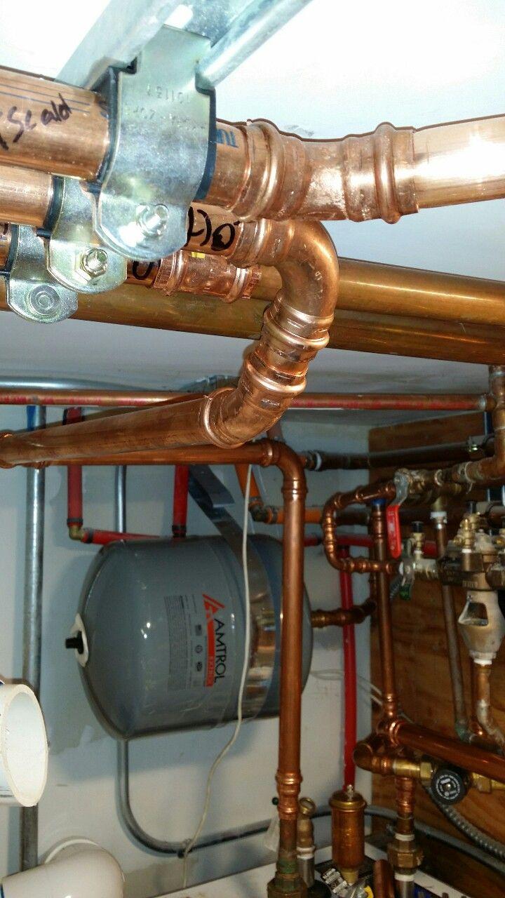 Copper Press Fittings By 88hvac Floor Heating Systems Heating And Cooling Heating Systems