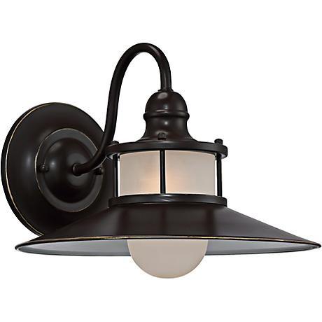 Quoizel New England 11 1 4 High Bronze Outdoor Wall Light Outdoor Barn Lighting Wall Lantern Barn Lighting