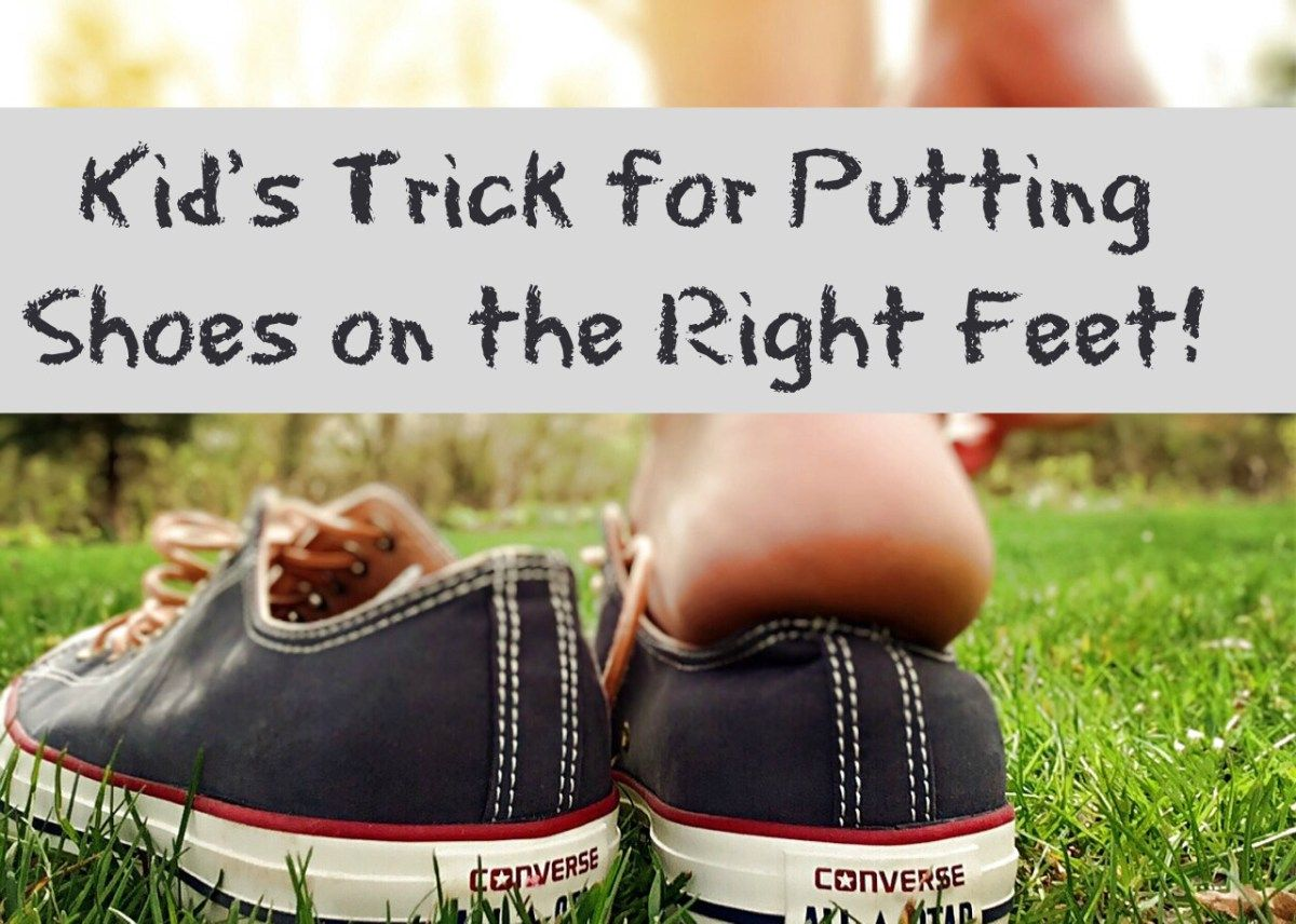 Kid S Trick For Putting Shoes On The Right Feet