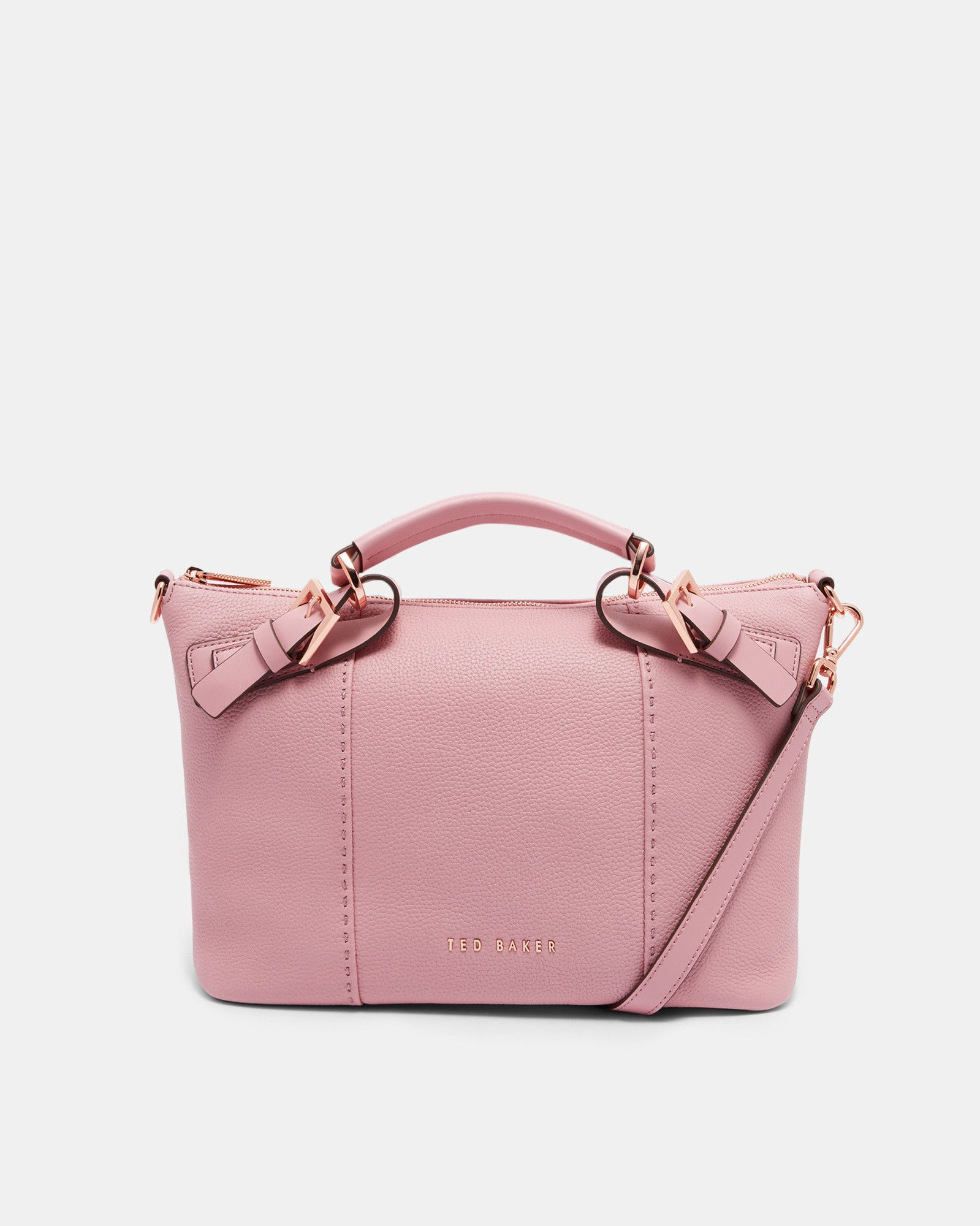 a469f8eb9 Ted Baker Pop handle small leather tote bag