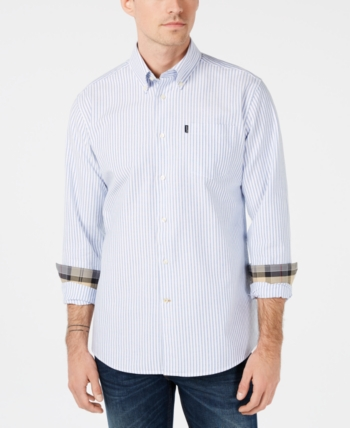 de34d19775c Barbour Men s Corgarff Tailored-Fit Stripe Shirt
