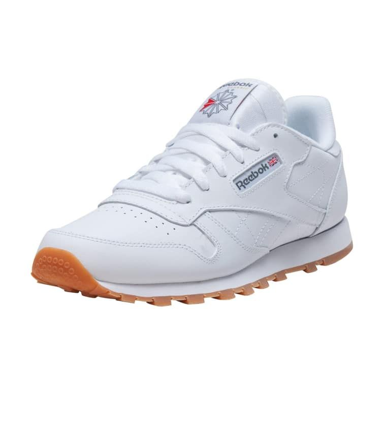 Kids Big Boys Classic Leather Casual Sneakers From Finish Line In White Reebok Classic Classic Leather Casual Sneakers