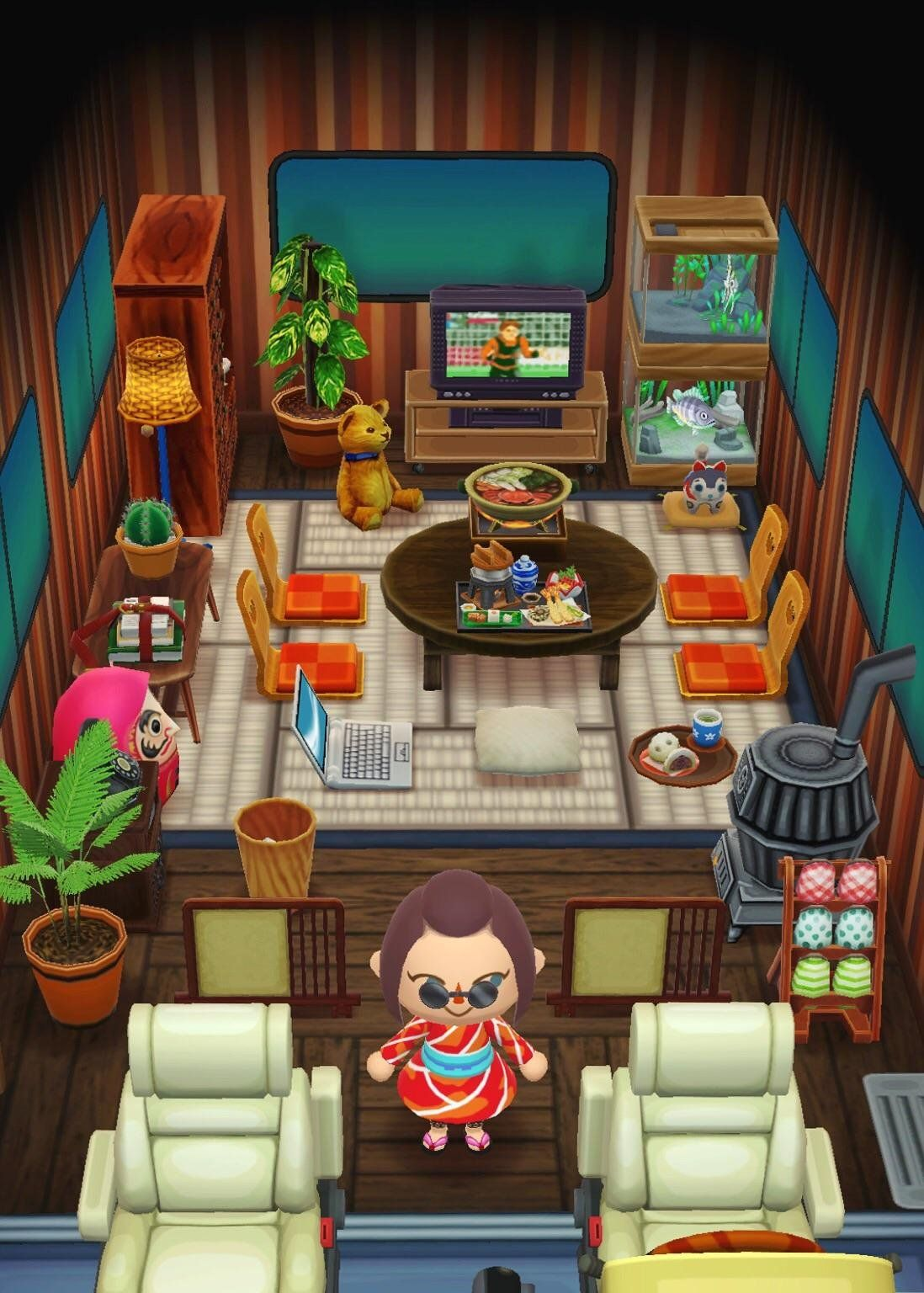 Super Proud Of My Japanese Style Camper 3 Acpocketcamp Japanese Animals Animal Crossing Pc Animal Crossing Pocket Camp