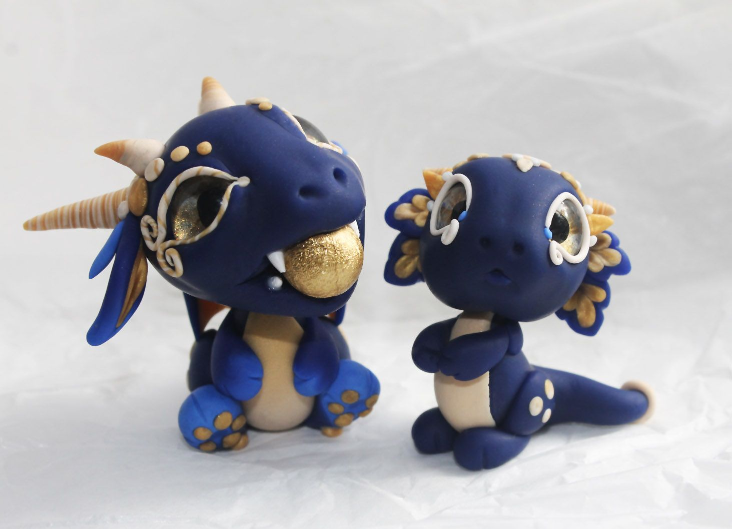 Blue and Gold Baby Dragons