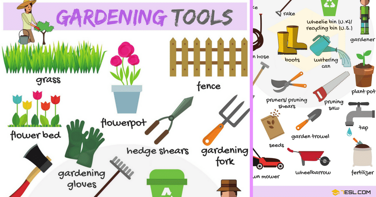 Gardening Tools Names, List With Useful Pictures 7 E S