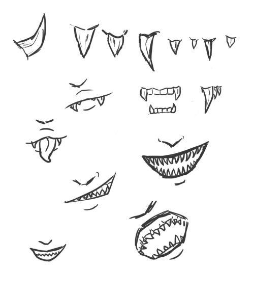 Sharp Teeth Drawing Teeth Drawing Mouth Drawing Smile Drawing