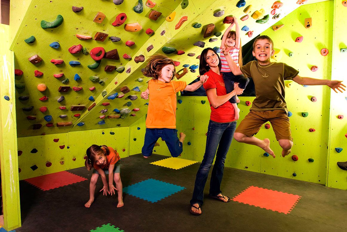Combine a climbing wall and ceiling within a sensory room for fun ...