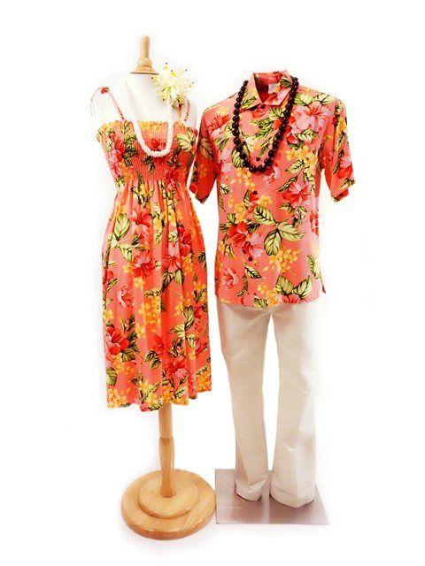 Men's Hawaiian Shirt [Hibiscus&Plumeria/Pink]  - Men's Hawaiian Shirts - Hawaiian Shirts   AlohaOutlet SelectShop