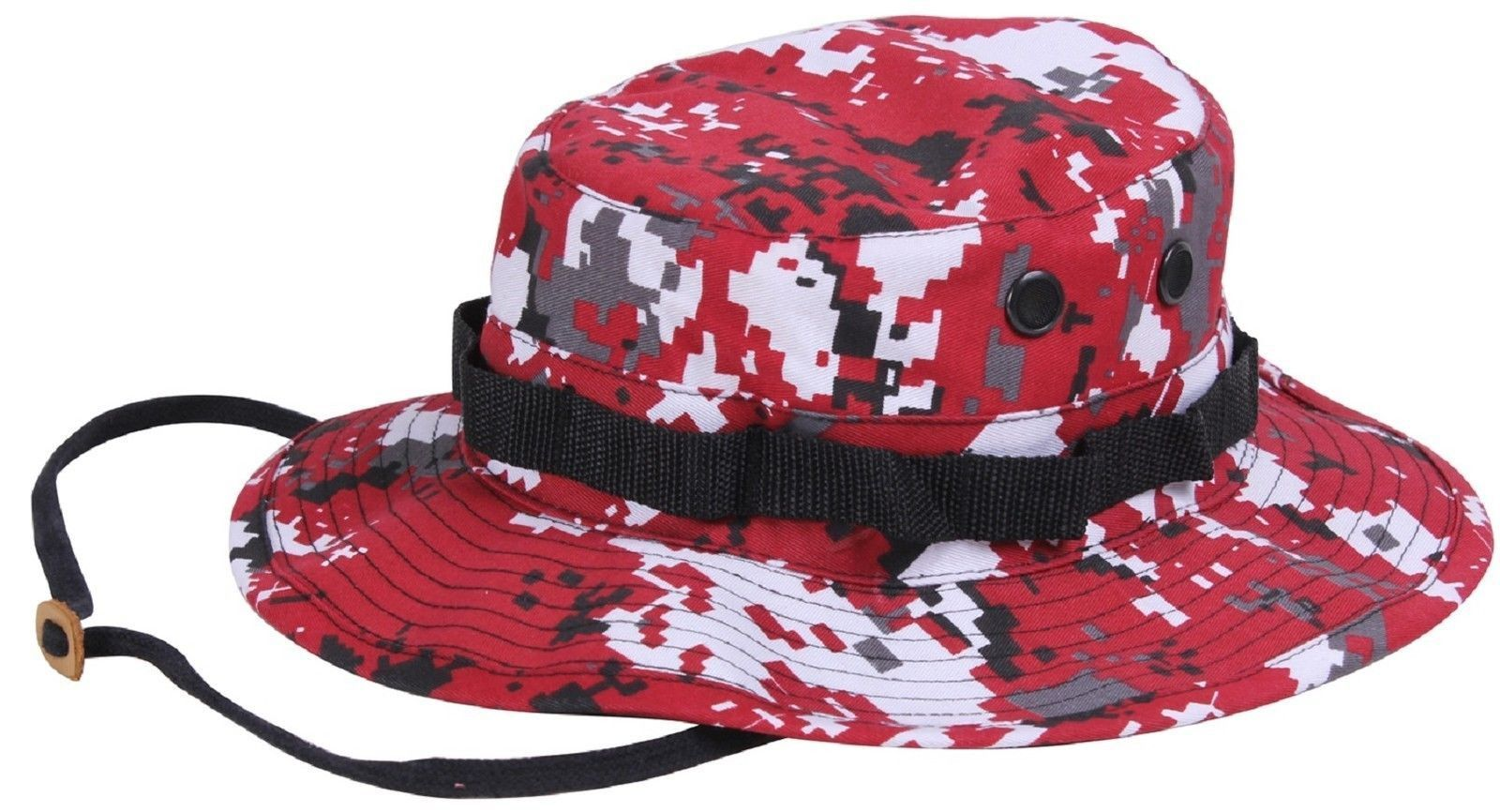 b34dc73f6bb2f Blue or Red Digital Camouflage Boonie Hat - Rothco Digi Camo Bucket Hats