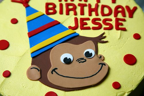 Free curious george face template the rest of it looked for Curious george cake template