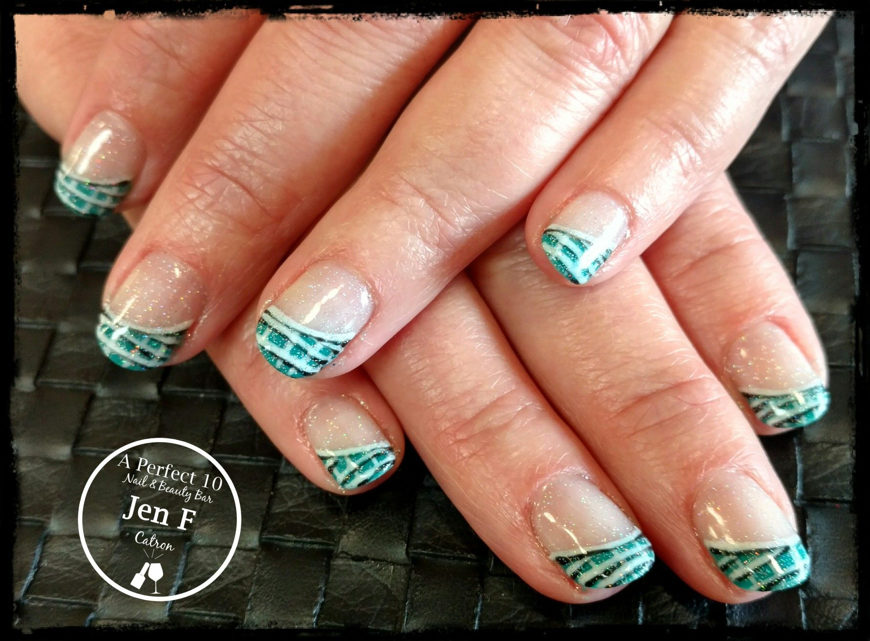 Fun French nail art | My nail art :) | Pinterest | French nail art ...