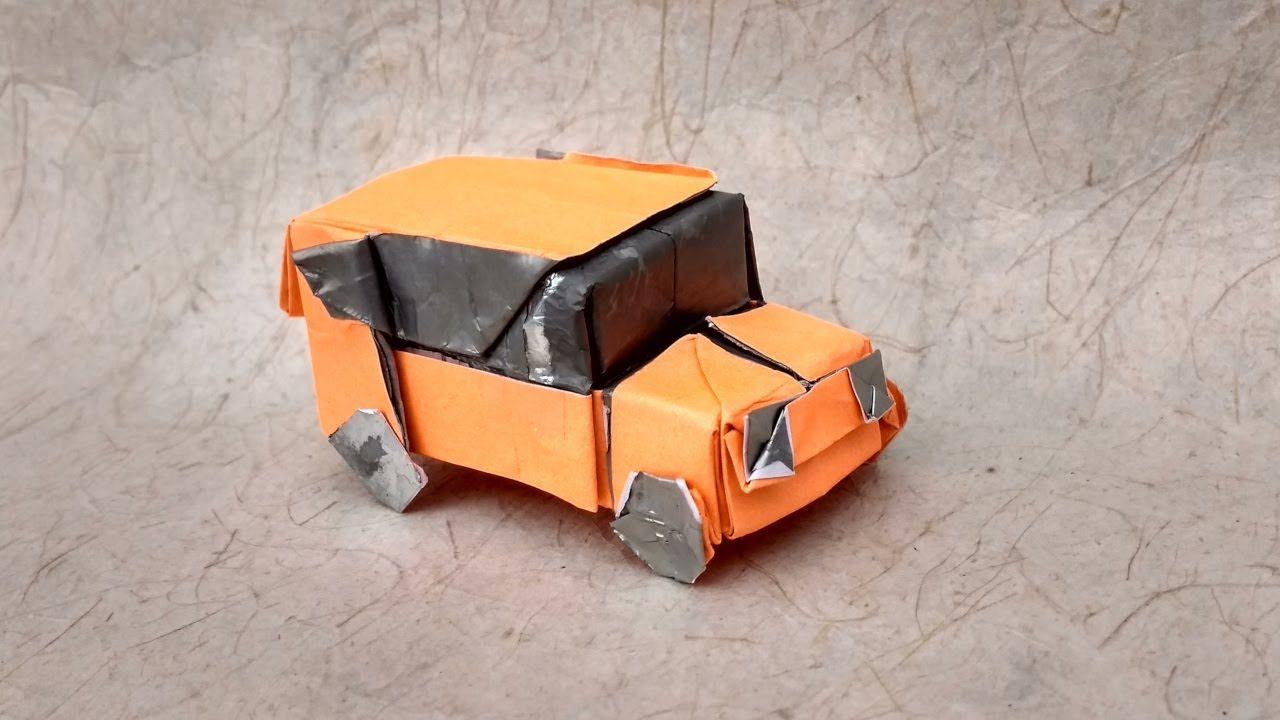 Como Dobrar O Carro De Origami Com Diagramas 折り紙 折り紙 車