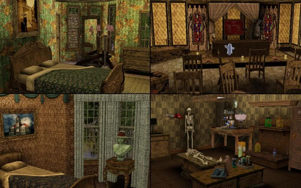 Mod The Sims Halloween Funeral House Sims 3 Wishlist
