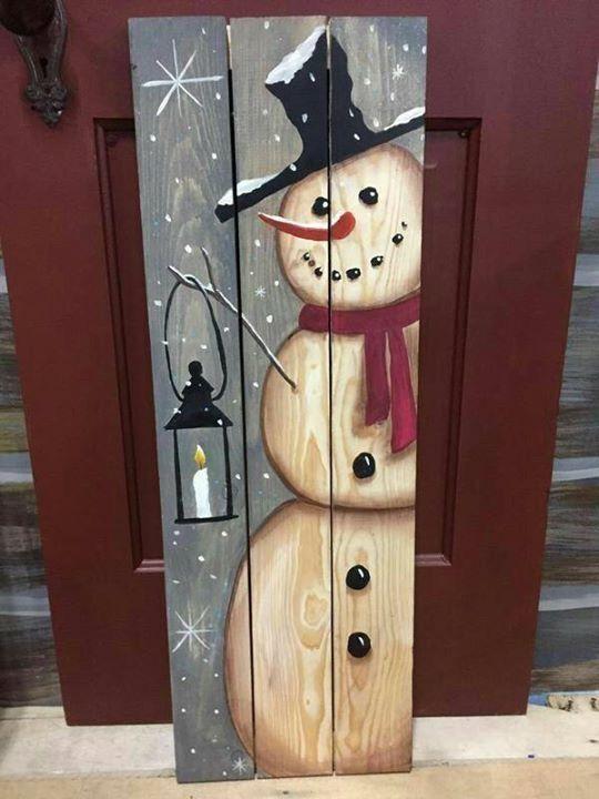 Snowman plank wood DIY   Christmas wood crafts